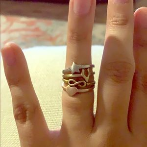 Jewelry - Stackable good luck rings